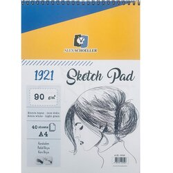 Alex Schoeller - Alex Schoeller 1921 Sketch Pad A4 90g 40 Yaprak 0526