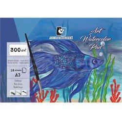 Alex Schoeller - Alex Schoeller Art Watercolor Blok İnce Dokulu Ekstra White 300g 12 Yp (1)