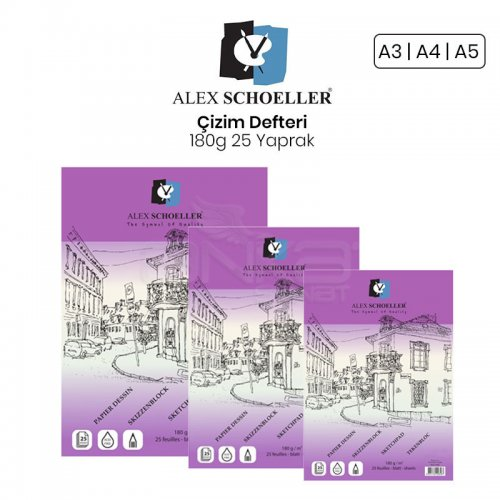 Alex Schoeller Çizim Defteri 180g 25 Yaprak