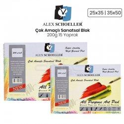 Alex Schoeller - Alex Schoeller Çok Amaçlı Sanatsal Blok 200g 15 Yaprak