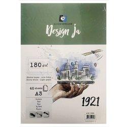 Alex Schoeller - Alex Schoeller Design Ja 1921 Ekstra White İnce Dokulu Blok 180g 40 Yp (1)