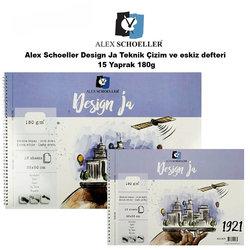 Alex Schoeller - Alex Schoeller Design Ja Teknik Çizim ve Eskiz Defteri 15 Yaprak 180g
