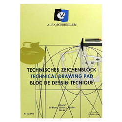 Alex Schoeller - Alex Schoeller Dikey Teknik Çizim Bloğu 80g 20 Yaprak (1)