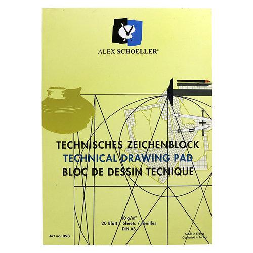 Alex Schoeller Dikey Teknik Çizim Bloğu 80g 20 Yaprak