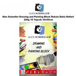 Alex Schoeller - Alex Schoeller Drawing and Painting Block Dokulu Eskiz Defteri 220g 15 Yaprak 35x50cm