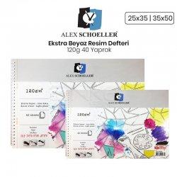 Alex Schoeller - Alex Schoeller Ekstra Beyaz Resim Defteri 120g 40 Yaprak