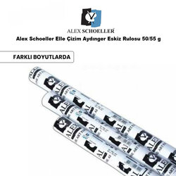 Alex Schoeller - Alex Schoeller Elle Çizim Aydınger Eskiz Rulosu 50/55 g
