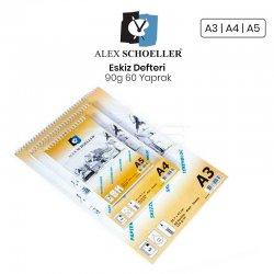 Alex Schoeller - Alex Schoeller Eskiz Defteri 90g 60 Yaprak (1)
