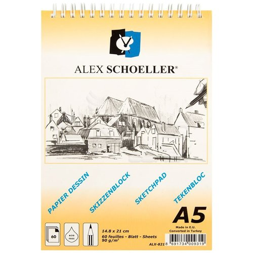 Alex Schoeller Eskiz Defteri 90g 60 Yaprak