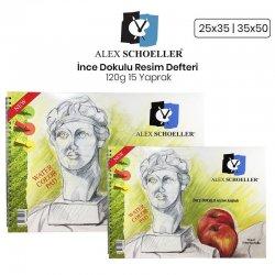 Alex Schoeller - Alex Schoeller İnce Dokulu Resim Defteri 120g 15 Yaprak
