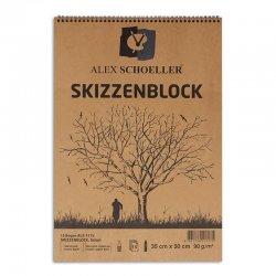 Alex Schoeller - Alex Schoeller Kraft Çizim Defteri Spiralli 90g 15 Yaprak