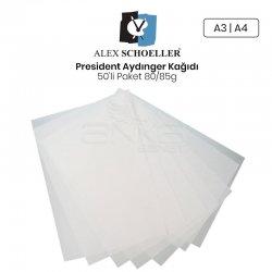 Alex Schoeller - Alex Schoeller President Aydınger Kağıdı 50li Paket 80/85g