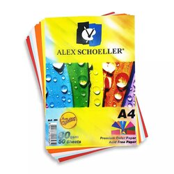 Alex Schoeller - Alex Schoeller Renkli Fotokopi Kağıdı A4 80g 50 Adet ALX-621