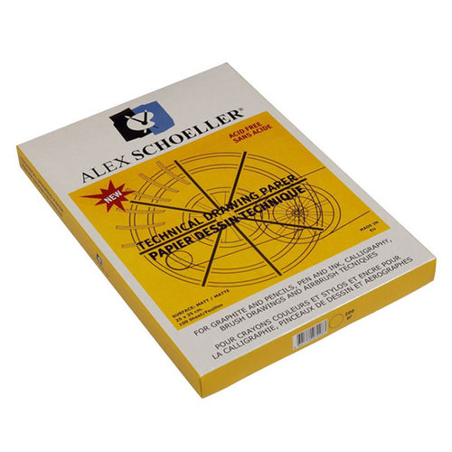 Alex Schoeller Teknik Çizim Kağıdı Damgalı 25li 200g