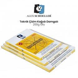 Alex Schoeller - Alex Schoeller Teknik Çizim Kağıdı Damgalı 10lu 200g
