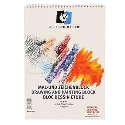 Alex Schoeller - Alex Schoeller Teknik Çizim Spiralli Resim Bloğu 165g 15 Yaprak (1)
