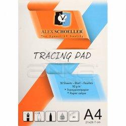 Alex Schoeller - Alex Schoeller Tracing Pad Aydınger Çizim Blok 90g A4 30 Sayfa