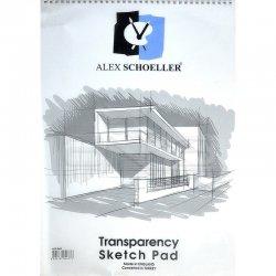 Alex Schoeller - Alex Schoeller Transparency Spiralli Sketch Pad Aydınger Eskiz Blok 50-55g 35x50cm 30 Yaprak (1)