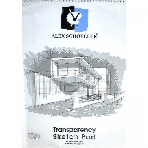 Alex Schoeller Transparency Spiralli Sketch Pad Aydınger Eskiz Blok 50-55g 35x50cm 30 Yaprak