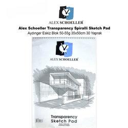 Alex Schoeller - Alex Schoeller Transparency Spiralli Sketch Pad Aydınger Eskiz Blok 50-55g 35x50cm 30 Yaprak