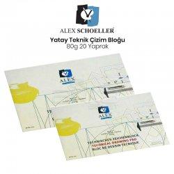 Alex Schoeller - Alex Schoeller Yatay Teknik Çizim Bloğu 80g 20 Yaprak
