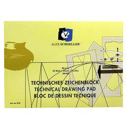 Alex Schoeller Yatay Teknik Çizim Bloğu 80g 20 Yaprak - Thumbnail