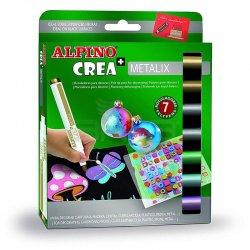Alpino - Alpino Crea Metalix Yaldızlı Keçeli Kalem 7 Renk