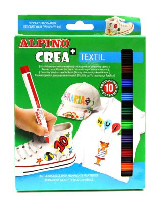 Alpino Crea Tekstil Kalemi 10lu