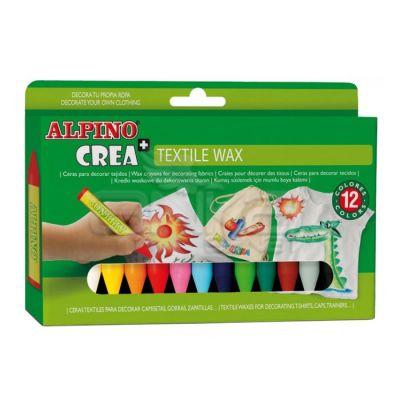 Alpino Crea Textile Wax Kumaş İçin Mumlu Boya 12li