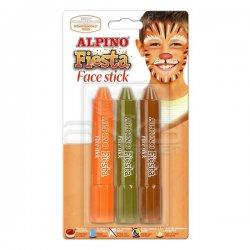 Alpino - Alpino Fiesta Face Stick Yüz Boyası 3lü Set DL000051