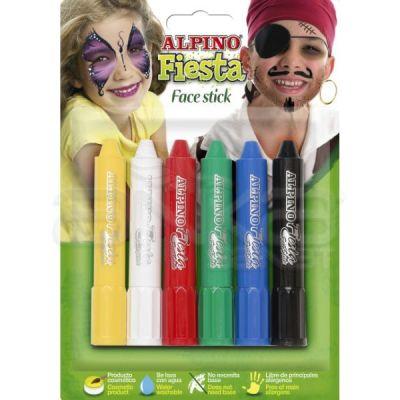Alpino Fiesta Face Stick Yüz Boyası 6 Renk