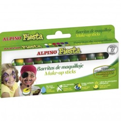 Alpino - Alpino Fiesta Make-Up Sticks Yüz Boyası Seti 12li