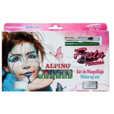 Alpino Fiesta Princess Make up Set Yüz Boyama Seti 6lı