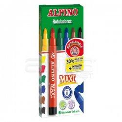 Alpino - Alpino Maxi Keçeli Kalem 6mm 6lı
