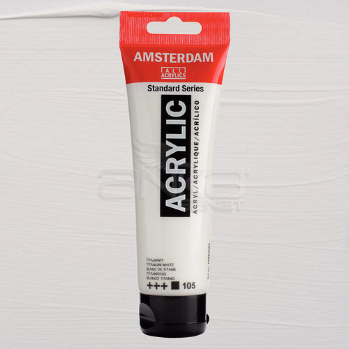 Amsterdam Akrilik Boya 120ml 105 Titanium White