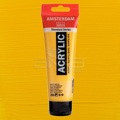 Amsterdam Akrilik Boya 120ml 269 Azo Yellow Medium - 269 Azo Yellow Medium