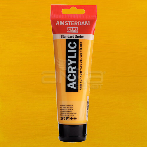 Amsterdam Akrilik Boya 120ml 270 Azo Yellow Deep - 270 Azo Yellow Deep