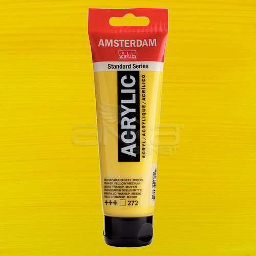 Amsterdam Akrilik Boya 120ml 272 Transparent Yellow Medium - 272 Transparent Yellow Medium