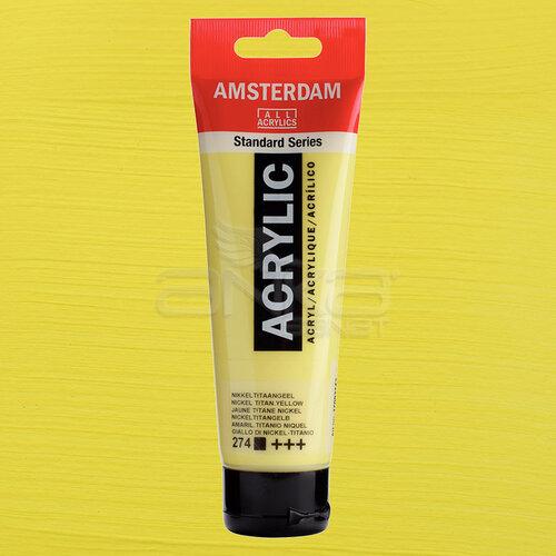 Amsterdam Akrilik Boya 120ml 274 Nickel Titanium Yellow