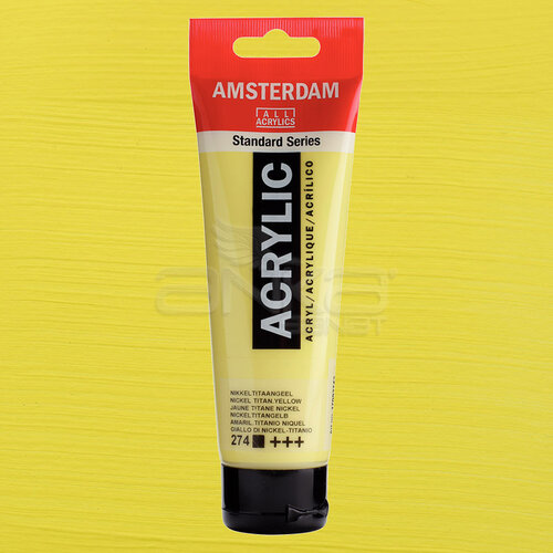Amsterdam Akrilik Boya 120ml 274 Nickel Titanium Yellow - 274 Nickel Titanium Yellow