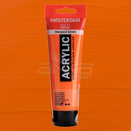 Amsterdam Akrilik Boya 120ml 276 Orange Azo - 276 Orange Azo