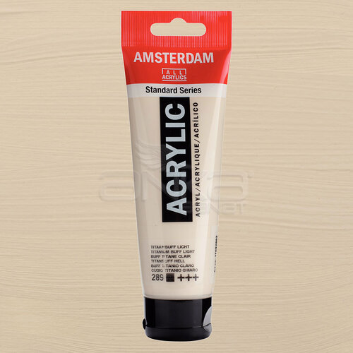 Amsterdam Akrilik Boya 120ml 289 Titanium Buff Light - 289 Titanium Buff Light
