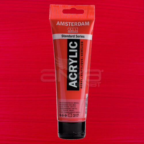 Amsterdam Akrilik Boya 120ml 317 Transparent Red Medium - 317 Transparent Red Medium