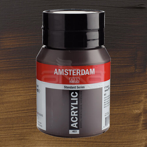 Amsterdam Akrilik Boya 500ml 403 Vandyke Brown