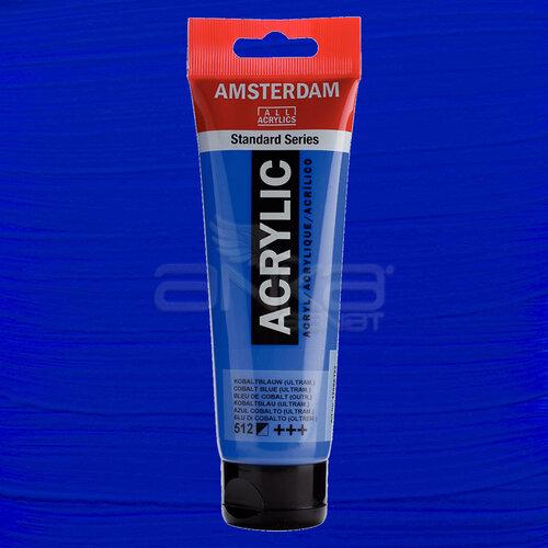 Amsterdam Akrilik Boya 120ml 512 Cobalt Blue Ultramarine - 512 Cobalt Blue Ultramarine