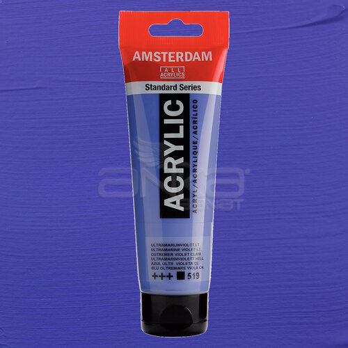 Amsterdam Akrilik Boya 120ml 519 Ultramarine Violet Light - 519 Ultramarine Violet Light