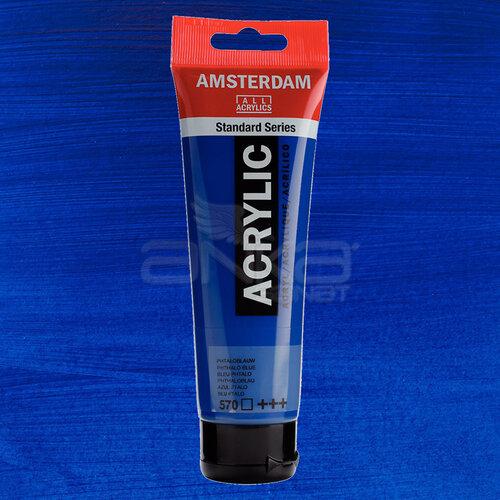 Amsterdam Akrilik Boya 120ml 570 Phthalo Blue