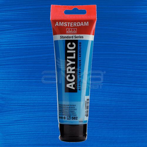 Amsterdam Akrilik Boya 120ml 582 Manganese Blue Phthalo