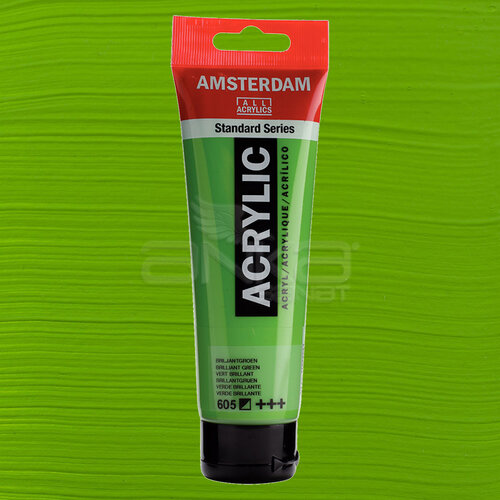 Amsterdam Akrilik Boya 120ml 605 Brilliant Green - 605 Brilliant Green