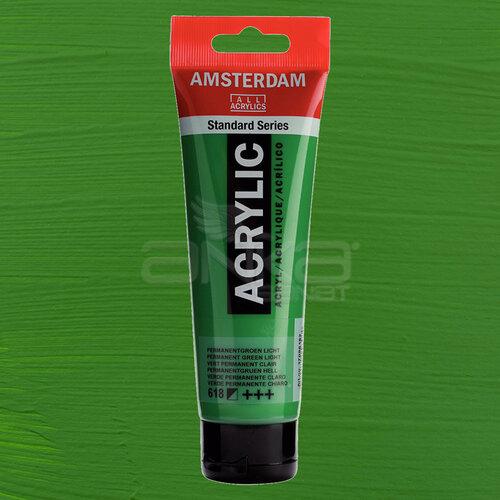Amsterdam Akrilik Boya 120ml 618 Permanent Green Light - 618 Permanent Green Light